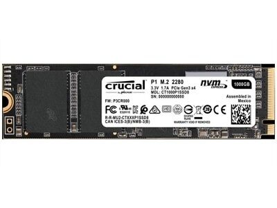 Crucial Solid State Drive CT1000P1SSD8 P1 1TB 3D NAND NVMe pci-e M.2 SSD