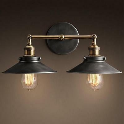 Vintage Loft Modern Industrial Metal Double Rustic Sconce Wall Light Wall Lamp
