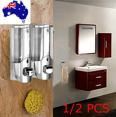 NEW Liquid Soap Dispenser  Bathroom Wall Mounted Shower Gel Shampoo Container