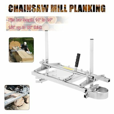 """Portable Chainsaw Mill Planking Milling Bar 14"""" to 24"""" Timber Lumber Cutting"""