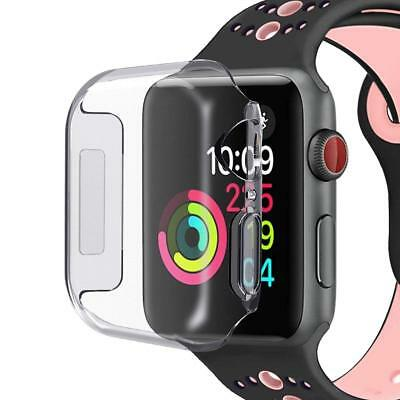 44mm 40mm Cover For iWatch Apple Watch Series 4 Case Clear Soft TPU Shell Bumper