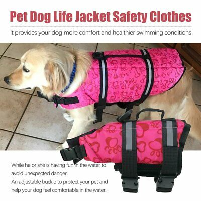 Dog Buoyancy Aid Pet Swimming & Boating Life Jacket Safety Vest Flotation 2B