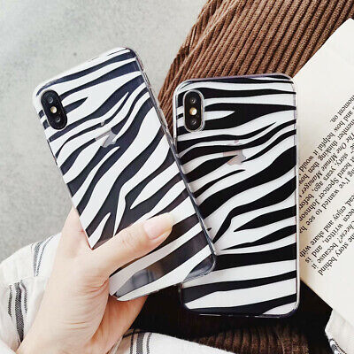 TPU Silicone Zebra Pattern Case Cover For Iphone 6/6S 7 8 Plus X XS MAX XR