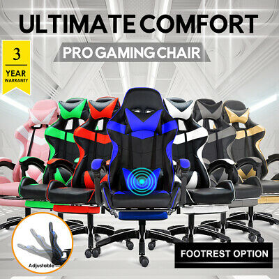 【15% OFF~$123】Gaming Chair Office Computer Seating Racing PU Executive Racer