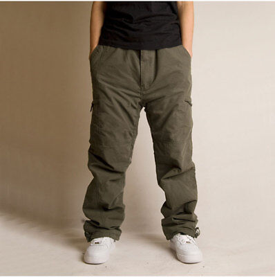 Mens Winter Trouser Fleece Lined Thermal Pant Big Size Outdoor Work Cargo Baggy