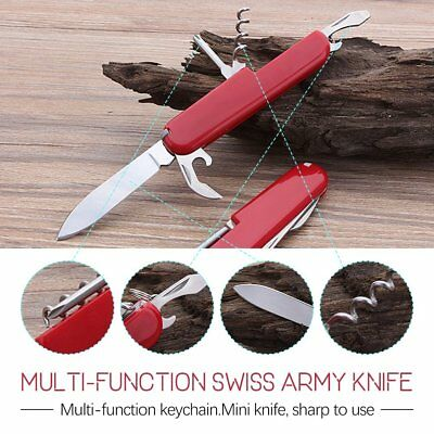 Outdoor Military Survival Multi Tool New Red Folding Pocket Swiss Army Knife 8B