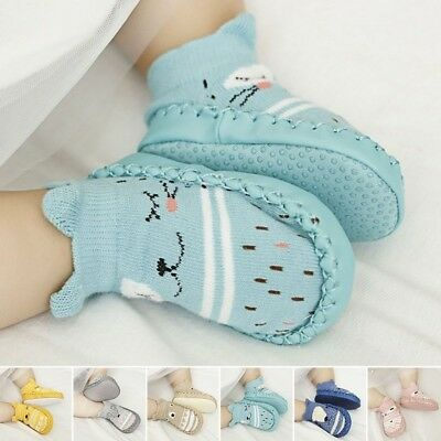 Newborn Baby Girl Boy Non-Slip Socks Infant Slipper Crib Shoe Soft Sock 0-3 Year