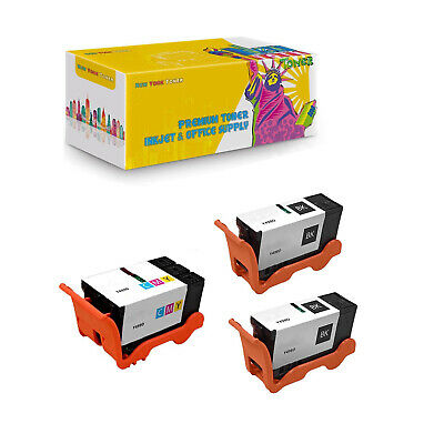 Black Color,2-Pack AB Volts Remanufactured Ink Cartridge Replacement for Dell T109N /& T110N for V715W P713W