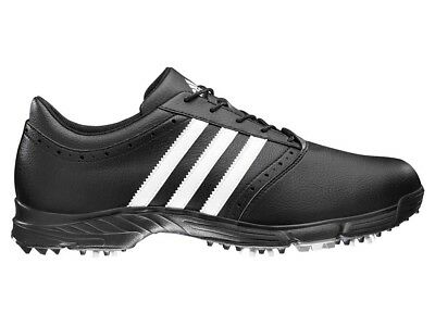 Adidas Traxion Classic Golf Shoes - Black/White