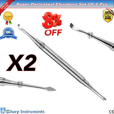 Buser Periosteal Elevators Implant Tissue Grafting Double End Dental Instruments