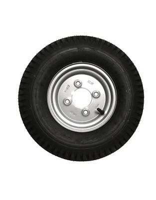 8 Inch Trailer Wheel and Tyre 400 x 8 in Silver 4 PLY 4 inch PCD