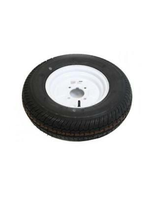 """10 Inch Trailer Wheel and Tyre 145B10 4 PLY in White 4 Stud 4"""" pcd"""