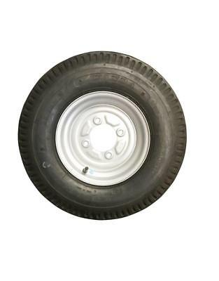 10 Inch Trailer Wheel and Tyre 500 x 10 Wheel & Tyre 6 PLY in Silver 4 Stud 115m