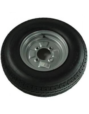 10 Inch Trailer Wheel and Tyre 500 x 10 Wheel & Tyre 6 PLY in Silver 4 Stud 4""