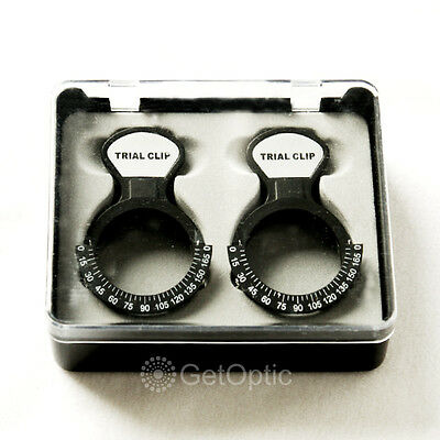 Set Of 2 Trial Lens Clip Optometry New Trial Frame