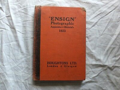 ENSIGN Photographic  Apparatus and Materials 1923 Hard Cover
