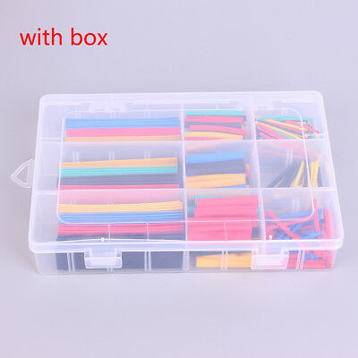 328Pcs 9eat Shrink Tubing Insulation Shrinkable Tube 2:1 Wire Cable with box9UK