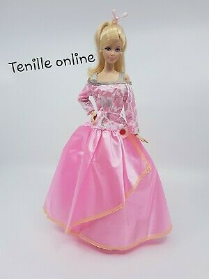 New Barbie clothes outfit princess  wedding ball fancy dress gown pink