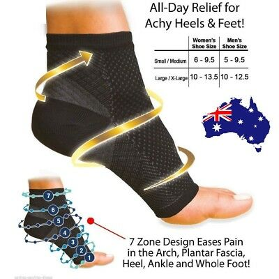 Foot Ankle Compression socks Sleeve Plantar Arthritis Heel Pain Swelling Relief
