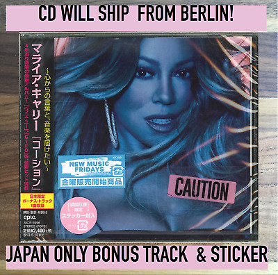 JAPAN BONUS TRACK RUNWAY+STICKER! MARIAH CAREY CAUTION CD SENT 20.11 fromBERLIN!