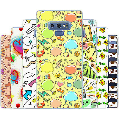 Dessana Doodle Sketch TPU Silicone Protection Cover Case Cell Phone for Samsung