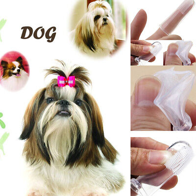 Pet Dental Cleaning Teeth Brush Soft Silicone Finger Toothbrush Oral Care Supply