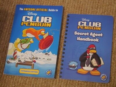 2 Disney Club Penguin Paperback Books Official Guide Secret Agent