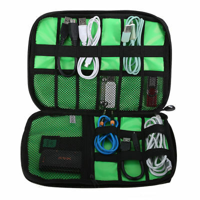 Electronics Accessories Organizer Travel Bag Storage Cable USB Drive Gadget Case