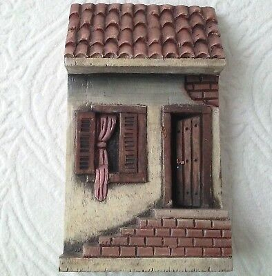 Wood Wooden Miniature House Door Window Steps Wall Hanging Decoration Sao Paulo