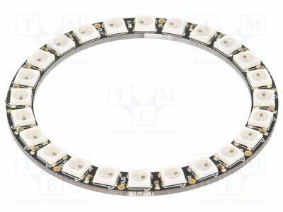 Modul: LED; Farbe: RGB; 5VDC; Anz.Dioden:24; 1,2A; Form: Ring [1 st]