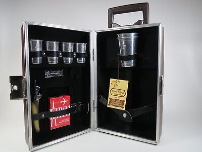 Vtg Executair 880 Trav-L-Bar Cocktail Set Ever-Wear Locking w Key Mid Century