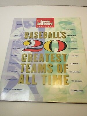 Vintage Sports Illustrated Baseball's Greatest Team of All Time 1991  Lot #34