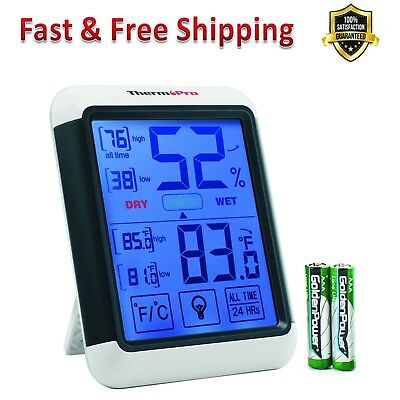 Digital Hygrometer Indoor Thermometer Humidity Gauge Back Light Humidity Monitor
