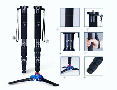 A-555 63 Inches Professional Monopod Stand Aluminum for Nikon Canon DSLR Camera