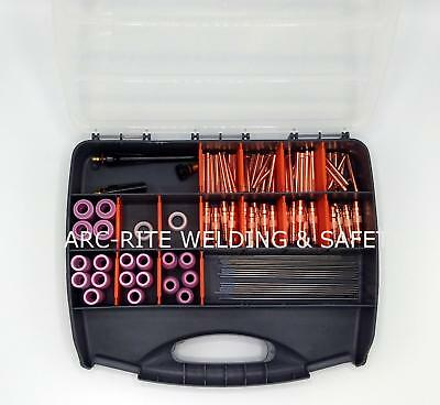 TIG Accessory Starter Kit WP 17 18 26 Ceriated Tungstens Collets Ceramics