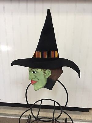 Hand Made Witch Face Only For The Longaberger Small Wrought Iron Snowman