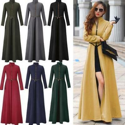749399c4c NEW WOMENS LONG Vintage Ankle Dress Military Jacket Floor Length ...