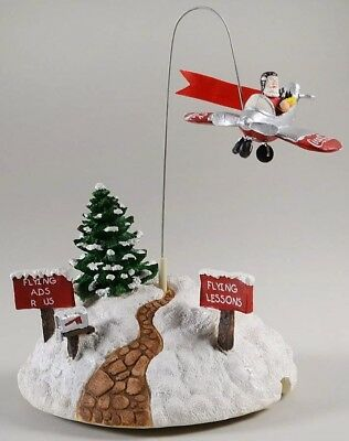 NEW in Box RARE Coca Cola Town Square Collection Town Flyer Santa in Airplane