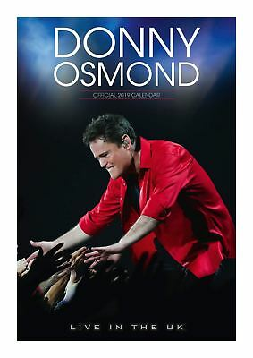 Donny Osmond Official 2019 Wall Calendar A3 New & Sealed