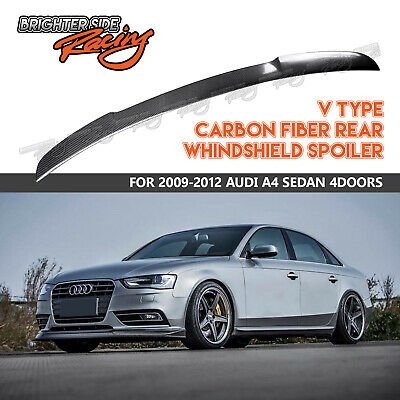Rear Trunk Boot SPOILER EXTENSION Performance style wing Lip Sport Trim abs A7