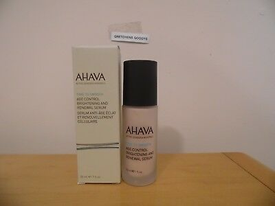Ahava Time to Smooth Bright Nights Age Control Brightening & Renewal Serum 1 oz