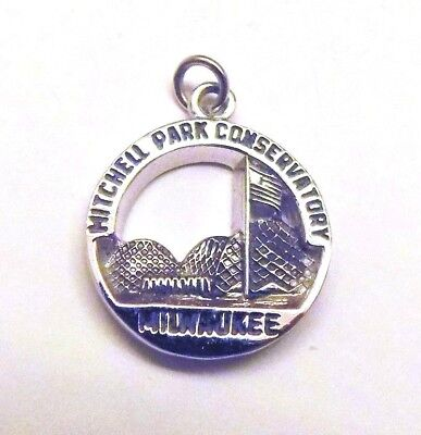 Sterling Silver Mitchell Park Conservatory Milwaukee pendant or charm
