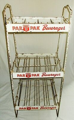 Par T Pak Beverages Soda Pop Metal Wire Store Display Advertising Rack