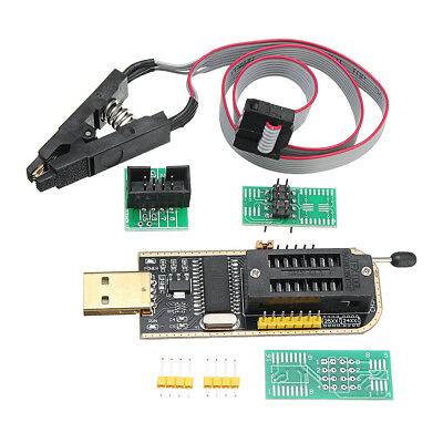 CH341A 24 25 Series EEPROM Flash BIOS USB Programmer + SOIC8 SOP8 Clip Adapter M