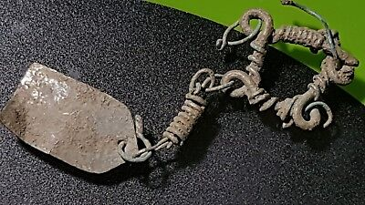 Ancient Byzantine Silver Earring !!