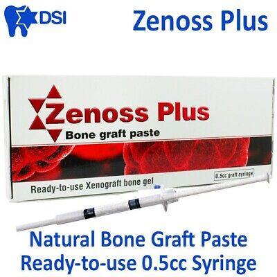 DSI Zenoss Dental Implant Natural Bone Graft Paste Gel Bovine Sterile 0.50cc CE