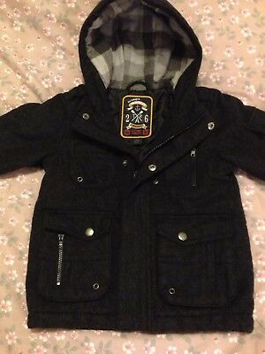 b23cfcf53 NEXT BOYS WARM Winter Hooded Coat   Jacket Age 2-3 Years