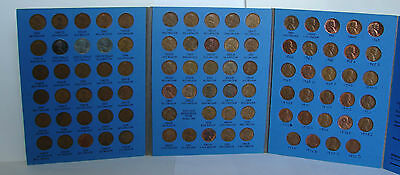 1941 - 1973  LINCOLN CENT COIN SET & BOOK OF COPPER PENNIES - 88 COINS k4
