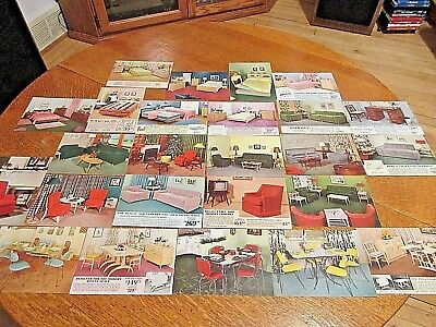 VINTAGE 1950 60s lot of 25 Furniture Store advertising postcards, Battle Lake MN
