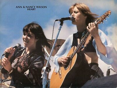 Heart Pinup Clipping Cutting From A Magazine 70's Concert Ann Nancy Wilson